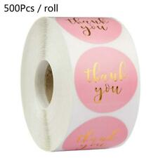 500pcs Bronzing Thank You Stickers Packaging Seal Labels Scrapbooking Decor New