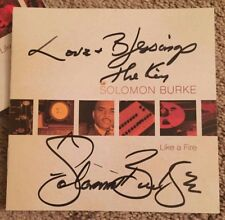 "SOLOMON BURKE Signed Autographed LIKE A FIRE w/ SEALED CD ""KING OF ROCK AND SOUL"