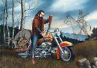 The Hunter - motorhead, biker life, david mann art Wall Decor Poster , no Framed