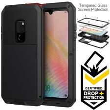 Huawei Mate 20   20 Pro Shockproof Dust Proof Metal Case Cover +Screen Protector