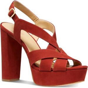 MICHAEL Michael Kors Womens Audrina Suede Pumps Dress Heels Sandals BHFO 4917