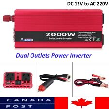 New 2000W Car Power Inverter Charger 12V DC to AC 110V  W/ Dual Outlets
