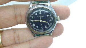 Vintage BULOVA 10AK Military Issue WW2 Watch