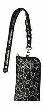 Disney Mickey Mouse Lanyard Cell Phone ID Holder Case Coin Badge Licensed Silver