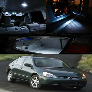 For 03-07 Accord White Interior Xenon LED Bulb Package Coupe Sedan EX LX DX