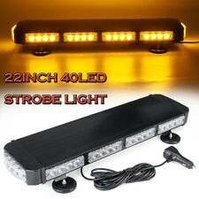"Led Roof Top 40 Led Solid Amber Emergency Plow Tow Truck 22"" Strobe Light Bar (Fits: Commercial Chassis)"