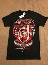 ANTHRAX 1981 CREST NEW YORK NY T-Shirt SIZE SMALL New With Tags