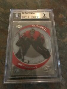2005-06 Upper Deck Ice #260 COREY CRAWFORD Rookie Card /2999 BGS 9 with 10 !!!