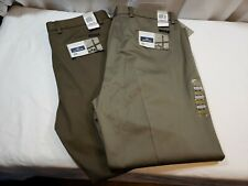 2 Pair Dockers Flat Front Straight Brown Men's Slacks Size 38x30