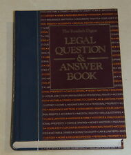 Book by The Readers Digest - Legal Question & Answer Book - Large Hardcover