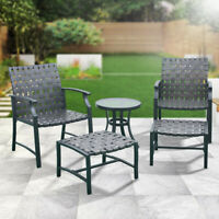 5 Pcs Patio Outdoor Furniture Dining Chair Set Side Coffee Table Fast Shipping