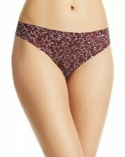 Calvin Klein Invisibles Thong D3507  (Wine, S) NEW