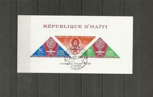 HAITI - 1962 Airmail - Malaria Eradication  - NICE USED MINIATURE SHEET.