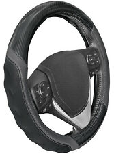 MotorTrend Carbon Fiber Leather Steering Wheel Cover Universal Fit for Cars