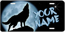 HOWLING WOLF  LICENSE PLATE, can be personalized, Made in USA