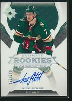2019-20 Upper Deck Ultimate Collection Rookies Auto /299 Nico Sturm