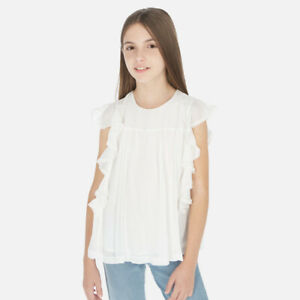 New Mayoral Girls ruffled blouse, Age 8 years (6163)