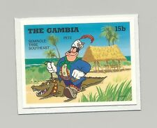 Gambia #1698 Disney, Crocodile 1v Imperf Chromalin Proof on Card