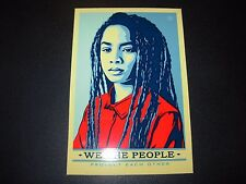 """SHEPARD FAIREY Obey Giant Sticker 3.5X5.25"""" WE THE PEOPLE PROTECT poster print"""