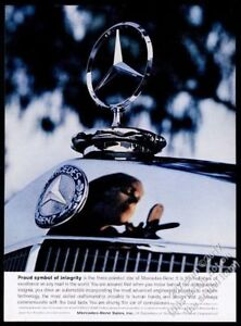 1959 Mercedes Benz car grille and hood star ornament photo vintage print ad