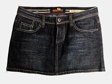 Dollhouse womens jean mini multiple pockets skirt, blue, junior size 7