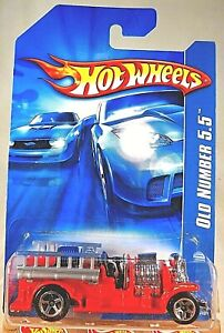 2006 Hot Wheels Collector #191 OLD NUMBER 5.5 Fire Truck Red Variation w/5 Spoke