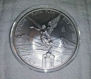 2019 5 oz Mexico Libertad BU In Capsule (Mintage 18,000) FREE SHIPPING