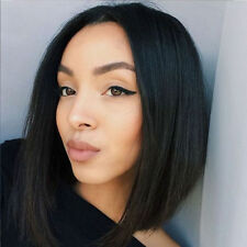 "10"" Brazilian Lace Front Wigs Straight Bob Human Hair Wigs with Baby Hair Wig"