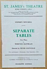 Separate Tables programme St James's Theatre 1954 Eric Portman Margaret Leighton