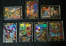 Wizard Press Set Of 7 Superhero Sealed Collectors Cards