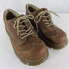 Dr Doc Martens 7 UK 9 US Brown Leather Oxford Shoe Leather Flower Stamped