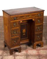 18th century Georgian Petite Knee Hole Desk Inlaid Walnut c.1780