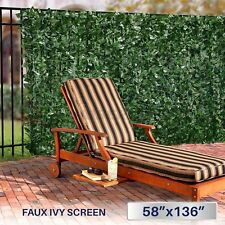 Artificial Privacy Screen Fence Roll Faux Ivy Mesh Leaf Shade Cover Windscreen