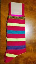 Paul Smith Mens English Socks Neon Twist Pink Multicolour F817 One Size Cotton