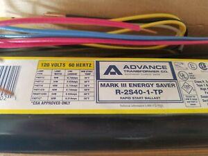 Advance MARK 111 R-2S40-1-TP ENERGY SAVER RAPID START BALLAST 120V 60HZ