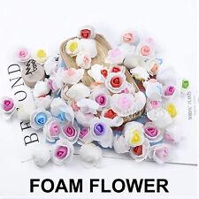500 Handmade Wedding Flower Head 3cm PE Foam Artificial Rose Double Color Crafts
