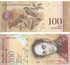 VENEZUELA - 100 BOLIVARES 23. 6. 2015 UNC pick New