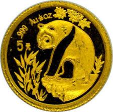 China Panda 1/20 Oro 5 Yuan o 20 Yuan Oro