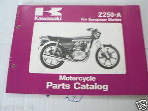 KAWASAKI Z250-A EUROPEAN MARKET PARTS CATALOG ORIGINAL FACTORY BOOK 1980
