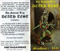 Metagaming MicroQuests MicroQuest #1 - Death Test (2nd) EX-