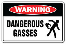 DANGEROUS GASES Warning Sign gag novelty gift funny fart farting pass gas stink