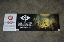 "RARE Little Nightmares Gamestop 2017 Promo Display Poster 8 1/2"" x 25"" VG COND!!"