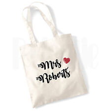 Personalised 'Teacher Heart' Canvas Tote Bag- GIFT FOR THANK YOU TEACHER