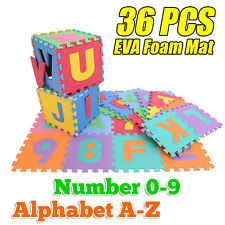 New 36pcs Baby Kids Alphabet Number Puzzle Play Interlocking EVA Foam Floor Mat