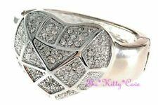 Bracciali di bigiotteria d'argento cuore di pietra principale cristallo