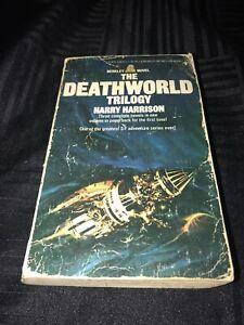THE DEATHWORLD TRILOGY by Harry Harrison 1976 Paperback Science Fiction