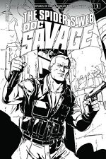 DOC SAVAGE SPIDERS WEB #1 1:20 B&W VARIANT COVER DYNAMITE COMICS