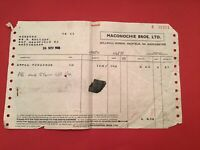 Maconochie Bros Ltd Manchester 1948 Apple Puddings receipt R35290