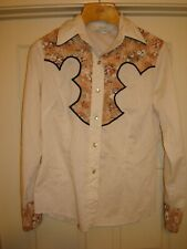 Vintage H Bar C Toronto Western long sleeve shirt embroidered pearl button women