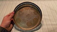 DECORATIVE SILVER PLATE MADE IN INDIA E.P.N.S. CANDLE HOLDER FLORAL